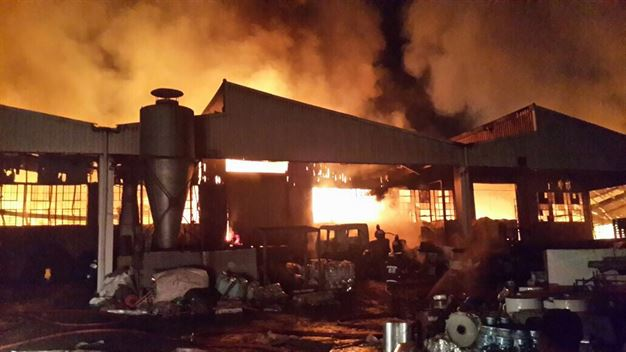 Ethekwini Metro Fire Department Divisional Commander, Bruce De Gier, said the fire had started in a factory block in Verulam's industrial area.