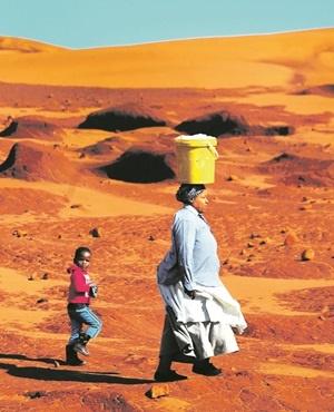 The red dunes in Xolobeni near Mbizana, Eastern Cape.