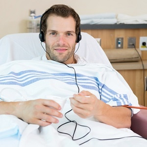 listening to music in hospital