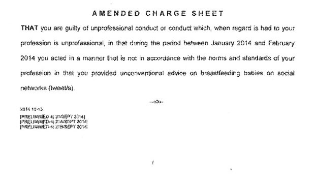 These are the charges that Noakes's is facing. <br />