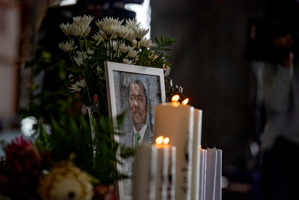 The official police funeral of Anti-Gang Unit officer Lieutenant Colonel Charl Kinnear took place in the Western Cape on Saturday, 30 September. Photo - Jaco Marais