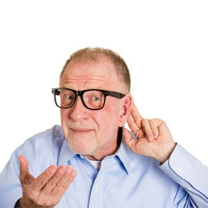 Man with osteoporosis is becoming deaf
