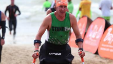 Amputee Stan Andrews takes on Cape Town triathlon