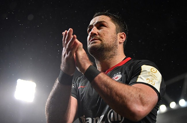 Saracens' Brad Barritt applauds the fans as he leaves the field dejected following his side's 10-3 defeat to Munster during the European Champions Cup match at Thomond Park in Limerick on 7 December 2019.