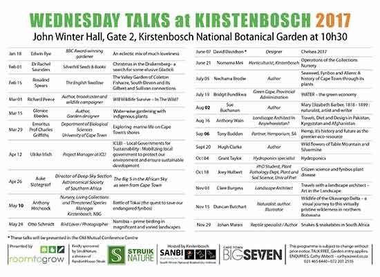 Kirstenbosch Wednesday Talks