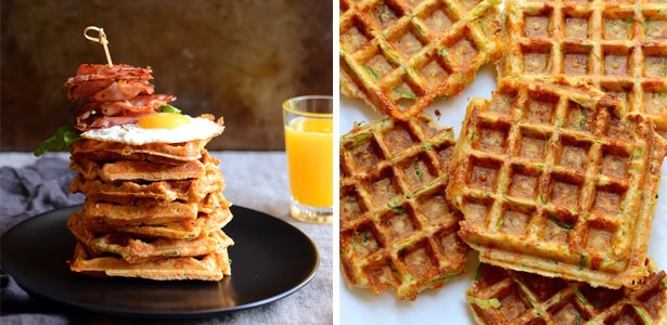 waffles,vegetables,vegetarian,cheese,recipes, brea