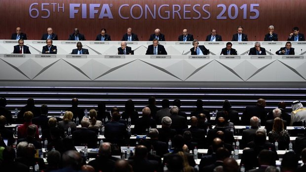 Pics – Bomb threats, scandals and protests rocked the 65th Fifa Congress