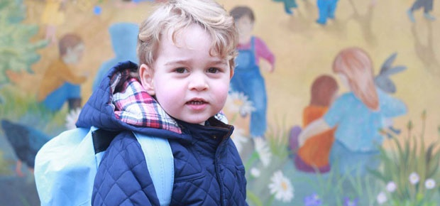 Prince George's first day at nursery school. (Photo: Facebook / British Monarchy / The Duchess of Cambridge)