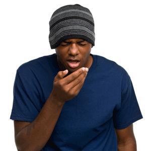 black teen boy sneezing