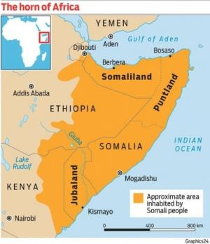Somalia has fragmented into regions. Somaliland is relatively stable. Puntland has prospered, but its income has been derived from piracy, while Kenya has effectively taken over the southern province of Jubaland and its, port Kismayo.