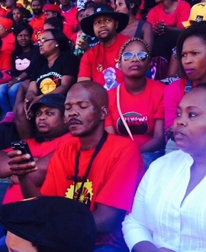 People attend a May Day rally in Durban. (Amanda Khoza, News24)