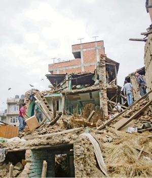 Many homes around Kathmandu were damaged or obliterated by the quake. More than 6?600 people died and thousands are still missing. Picture: Alet Pretorious