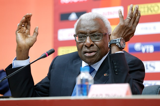 Lamine Diack (Photo by Lintao Zhang/Getty Images for IAAF)