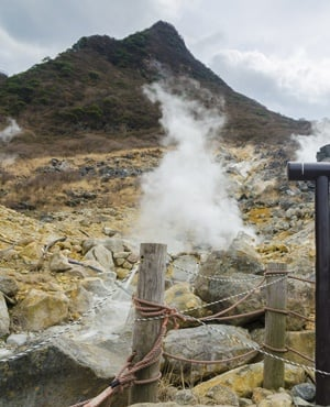 Owakudani hot spring area in Hakone, Japan. (Shutterstock)