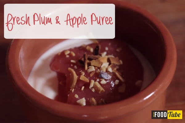 Plum and Apple Puree