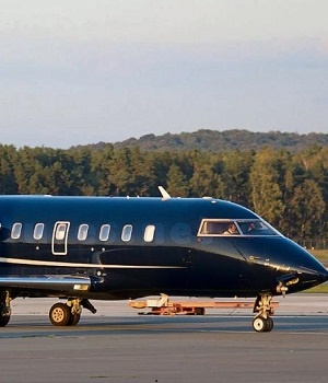 The Canadair CL605 in which President Jacob Zuma eventually arrived back from Russia.