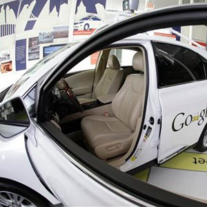 A Google self-driving car is on exhibit at the Computer History Museum in Mountain View. (Eric Risberg, AP, File)