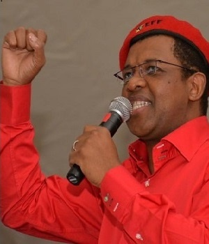 Economic Freedom Fighters' Dali Mpofu. (Charles Pullen, Die Son)