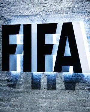 FIFA logo.  (Steffen Schmidt, Keystone via AP, File)