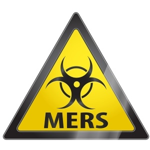 MERS warning sign from Shutterstock