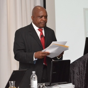 minister of health speaks at training