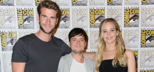 The Hunger Games cast. (AP)