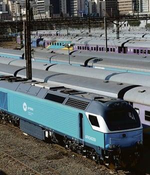 Prasa purchased the new locomotives for long-distance use. These locomotives were seen on Thursday last week in Johannesburg. PHOTO: Felix Dlangamandla