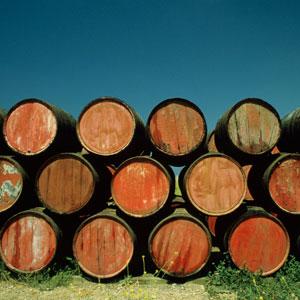 Sherry barrels in the sun