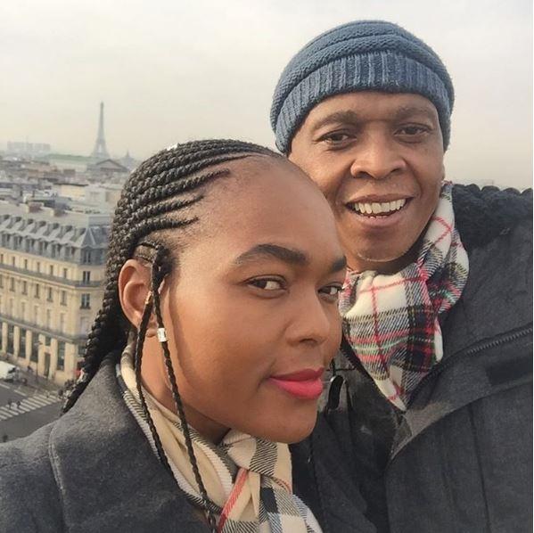 Robbie Malinga and wife on Paris anniversary!