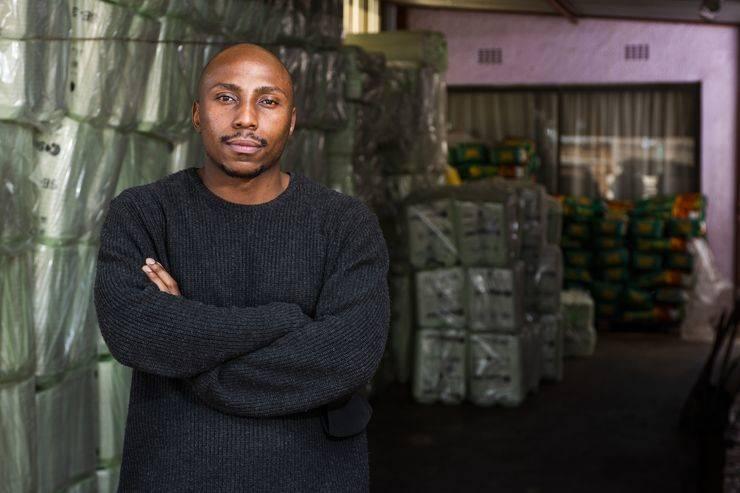 Kopano Mofokeng, whose Kasi Convenience company is thriving. Picture: Waldo Swiegers / bloomberg