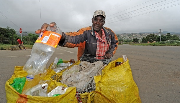 Imbali bottle recycler Nsikelelo Dladla is concerned about the drastic decrease of the recycling payment recyclers are receiving from the Wildlands Conservation Trust recycling project.
