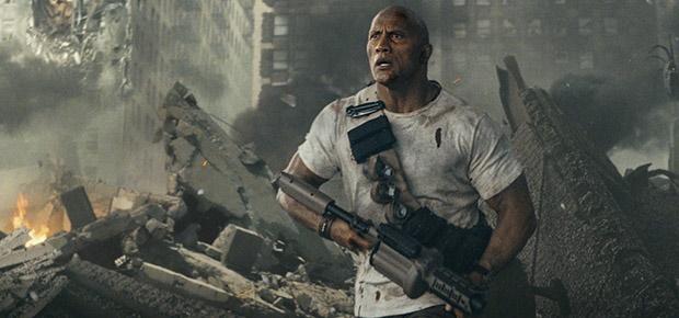 Dwayne Johnson in Rampage. (Warner Bros)