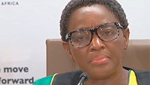 ICMYI: Watch the moment Dlamini left SASSA briefing