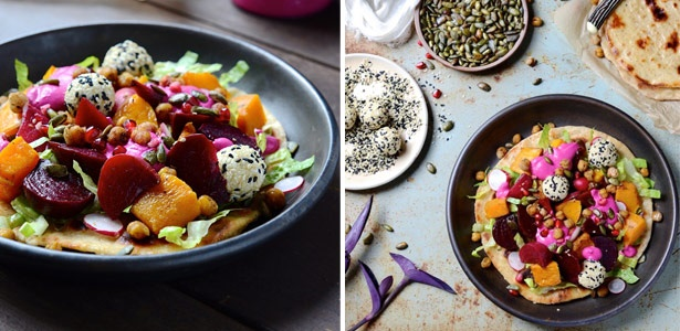 recipe, butternut, beetroot,goat's cheese