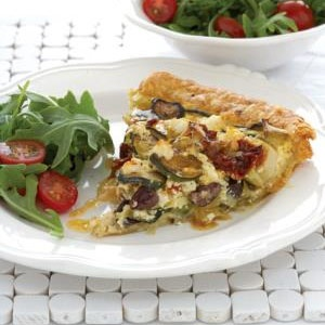 recipe, baby marrow, quiche,light meals
