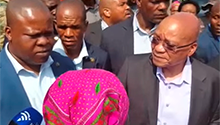 WATCH: Marabastad residents address concerns over nyaope and crime with President Zuma