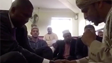Watch a snippet of Mandla Mandela's Muslim wedding ceremony here