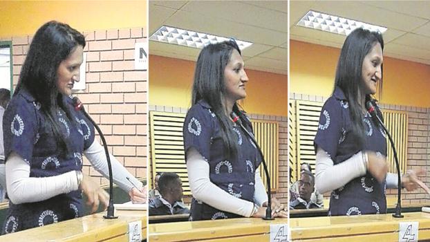 Alleged fraudster Charlene Singh in the dock on Friday at the Pietermaritzburg regional court.