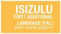 Old matric papers isiZulu