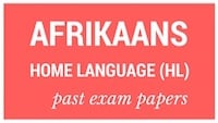 Old matric papers Afrikaans HL