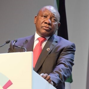 Cyril Ramaphosa speaking at the GEC 2017