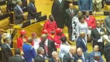 EFF remain seated as Zuma enters National Assembly