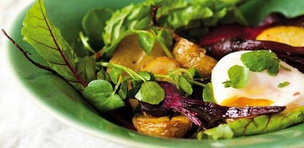 recipe, potatoes, beetroot, eggs,salad