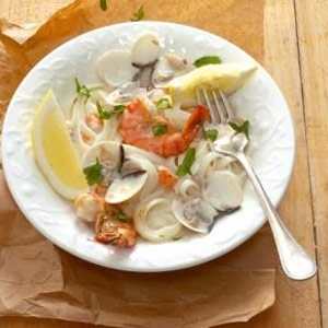 recipe, seafood, pasta, dinner,lunch