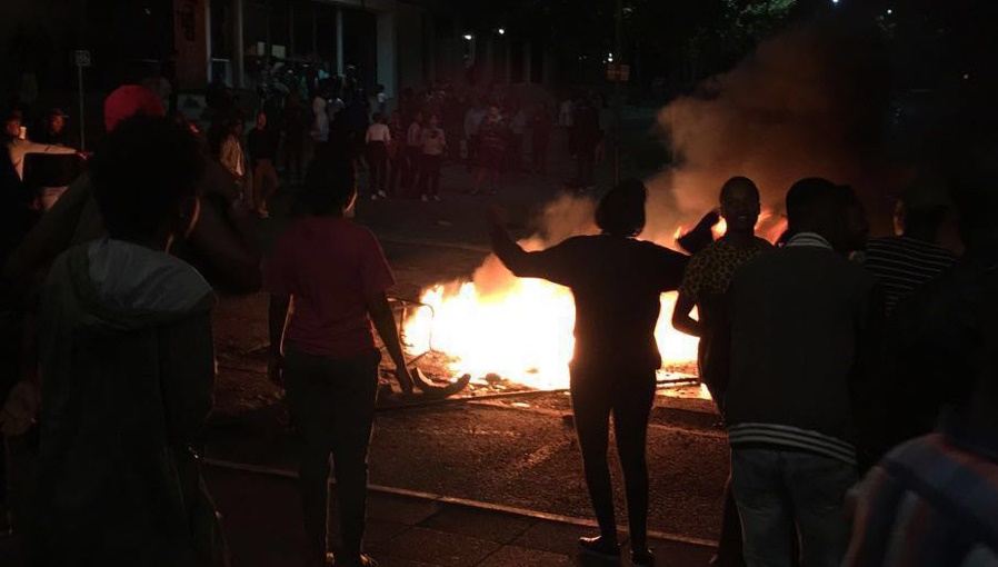 WATCH: Fires burn at UCT as students set bus, offices alight