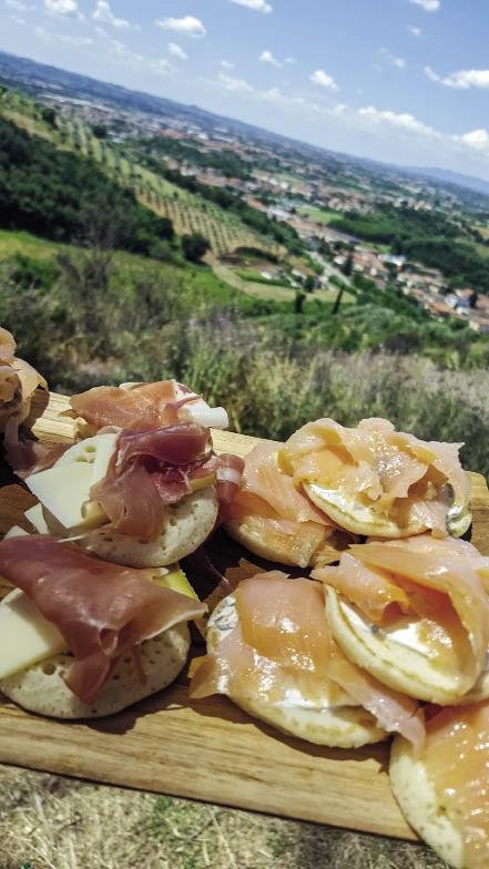 Italiaanse middagete van parmaham en salm