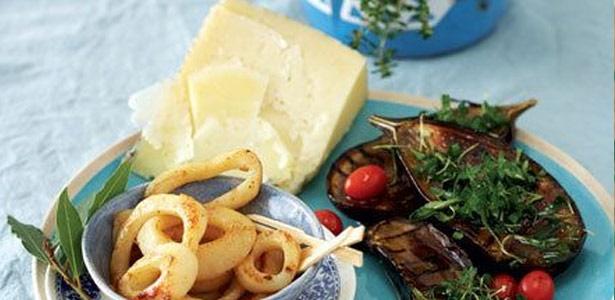 recipe, calamari, eggplant,olives