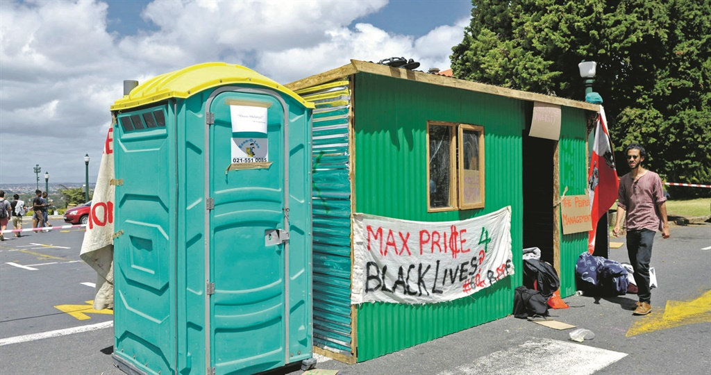 protest hq The shack that student activists erected on Monday on the steps leading to the Jameson Hall at UCT's Upper Campus was in protest against the lack of accommodation facing new and returning students PHOTOs: Lerato Maduna