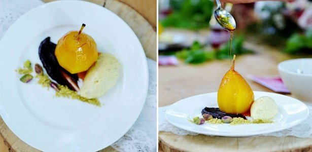 recipe, dessert, fruit,pears