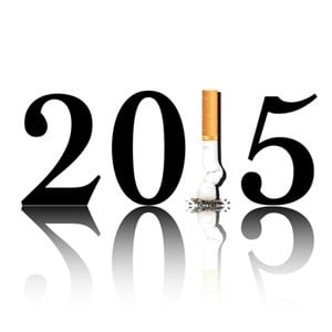 New Year's resolution to quit smoking.